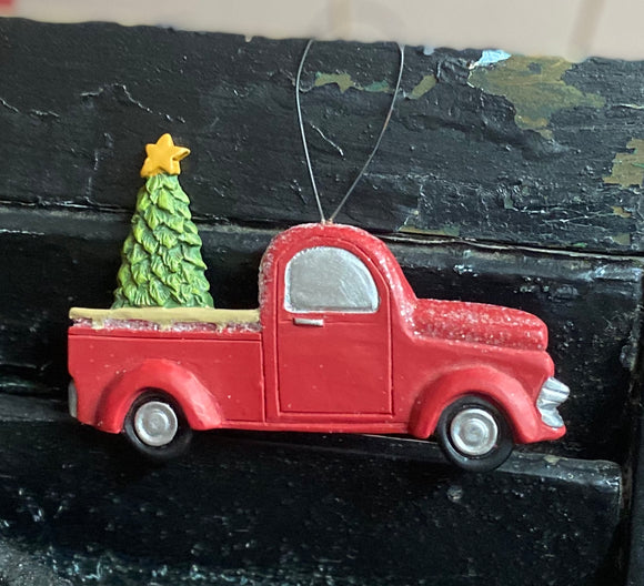 Classic Red Truck Ornament