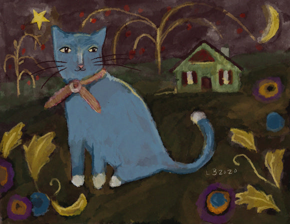 Blue Cat at The Cottage PDF download - Country Cottage Gifts