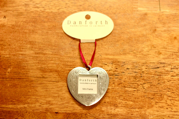 Danforth Pewter Victorian Heart Photo Ornament - Country Cottage Gifts