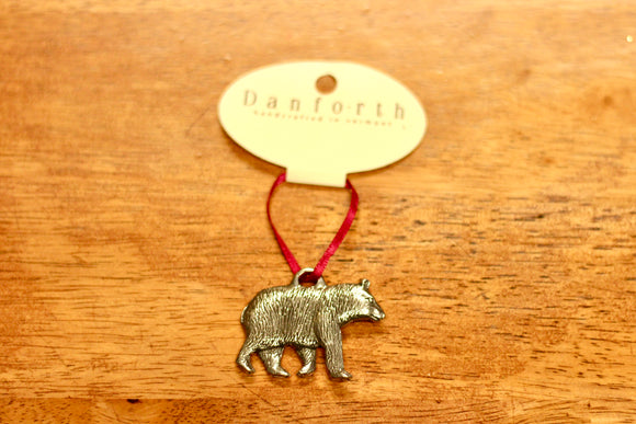 Danforth Black Bear Ornament - Country Cottage Gifts