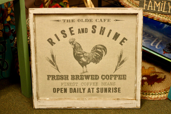 Rise And Shine: The Olde Cafe Sign - Country Cottage Gifts