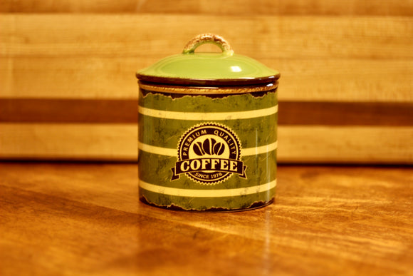 Retro Ceramic Coffee Canister - Country Cottage Gifts