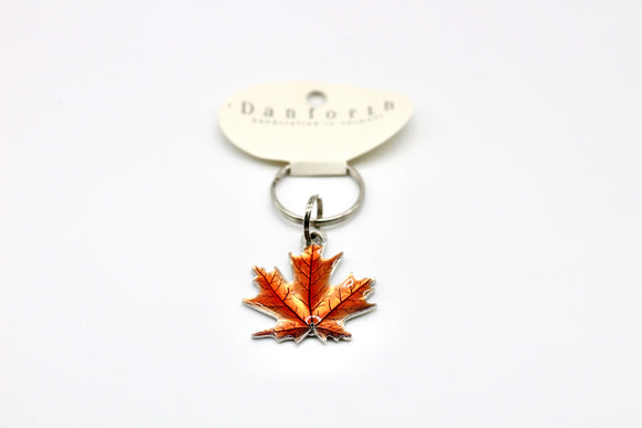 Danforth Pewter Maple Leaf Autumn Key ring - Country Cottage Gifts