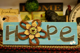 Blue Hope With Flower Sign - Country Cottage Gifts