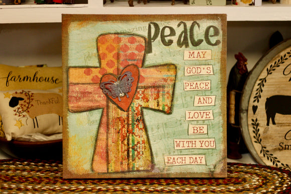 Peace Canvas - Country Cottage Gifts