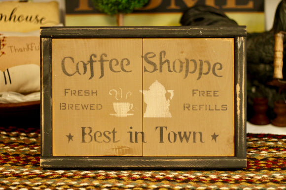 Coffee Shop Sign - Country Cottage Gifts