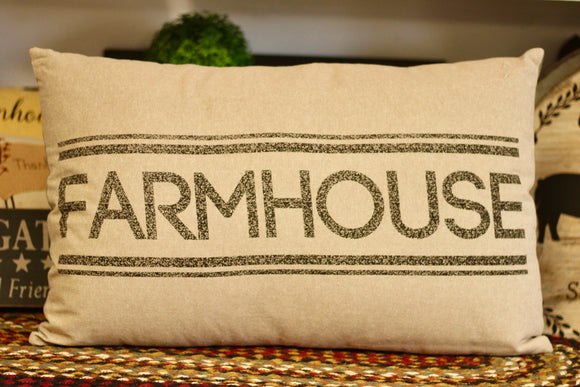 Sawyer Mill Farmhouse Pillow - Country Cottage Gifts