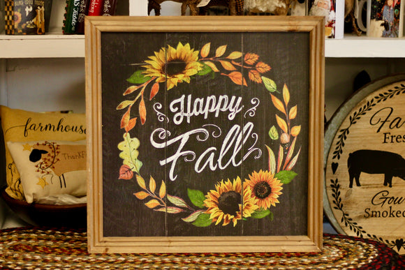 Happy Fall Sign - Country Cottage Gifts
