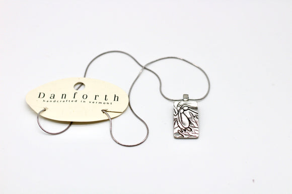 Danforth Pewter Forest To Shake Charm Necklace - Country Cottage Gifts