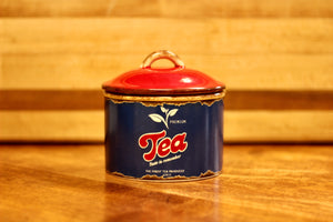 Retro Ceramic Tea Canister - Country Cottage Gifts