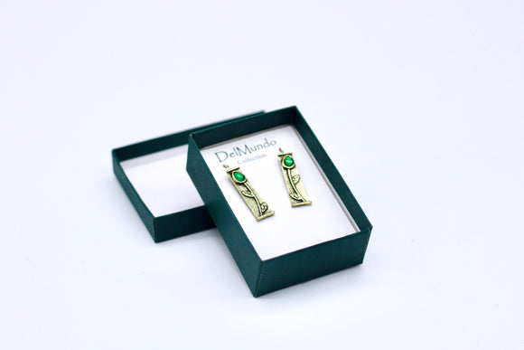 DelMundo Green Earrings - Country Cottage Gifts
