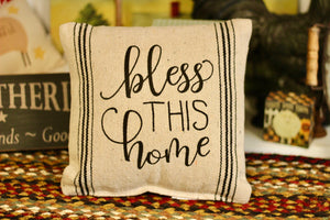 Bless This Home Pillow - Country Cottage Gifts