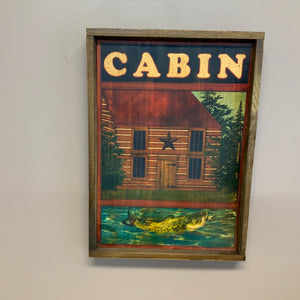 Cabin print - Country Cottage Gifts