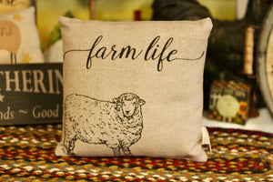 Farm Life Pillow - Country Cottage Gifts