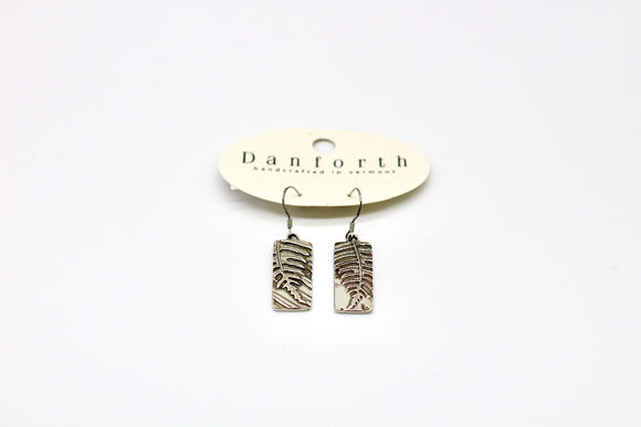 Danforth  Pewter Woodland Wire Earrings - Country Cottage Gifts