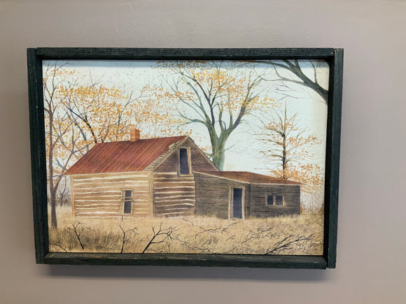 Old log home print - Country Cottage Gifts