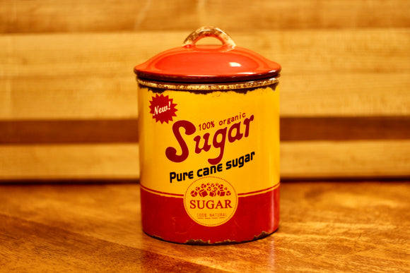 Retro Ceramic Sugar Canister - Country Cottage Gifts