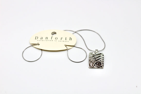 Danforth Pewter Woodland To Shake Charm Necklace - Country Cottage Gifts