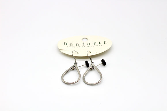 Danforth Pewter Gloria Jet Wire Earrings - Country Cottage Gifts