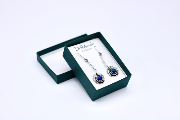 DelMundo Blue Earrings - Country Cottage Gifts