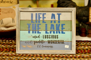 Life At The Lake Sign - Country Cottage Gifts