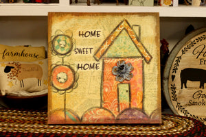 Home Sweet Home Canvas - Country Cottage Gifts