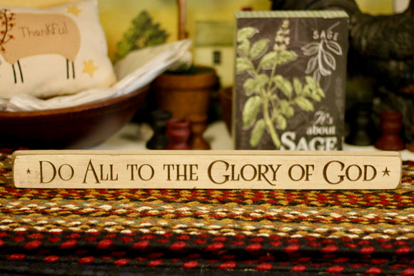 Do All To The Glory Of God Sign - Country Cottage Gifts