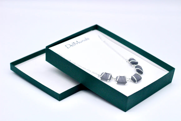 DelMundo Gray Necklace - Country Cottage Gifts