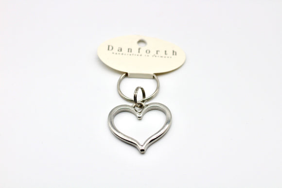 Danforth Pewter Heart Key Keyring - Country Cottage Gifts