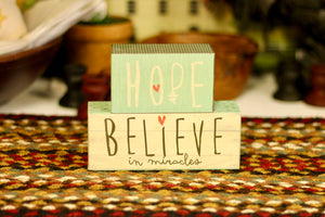 Believe In Miracles Sign - Country Cottage Gifts