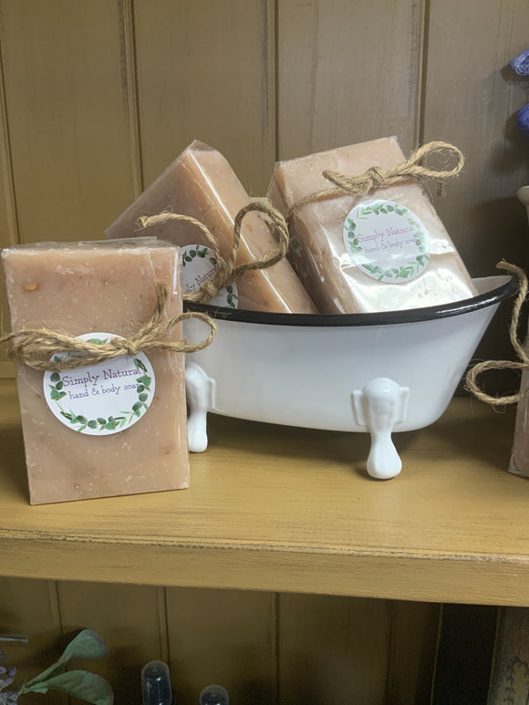 Simply Natural Hand And Body Soap- Made in Vt - Country Cottage Gifts