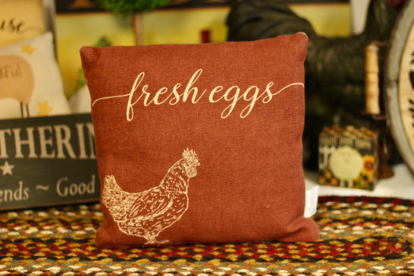Fresh Eggs Pillow - Country Cottage Gifts