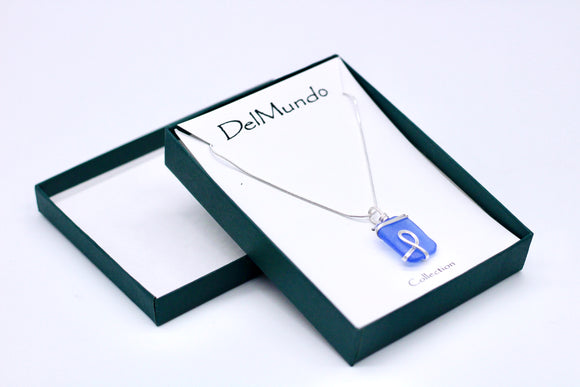 DelMundo 1 Blue Rock Necklace - Country Cottage Gifts