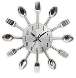 Spoon Fork Wall Mounted Kitchen Clock