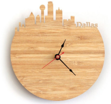 Horloge Murale Bois - Cities Dallas