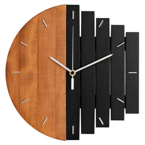 Horloge murale bois - Wooden abstract | Quai Des Horloges