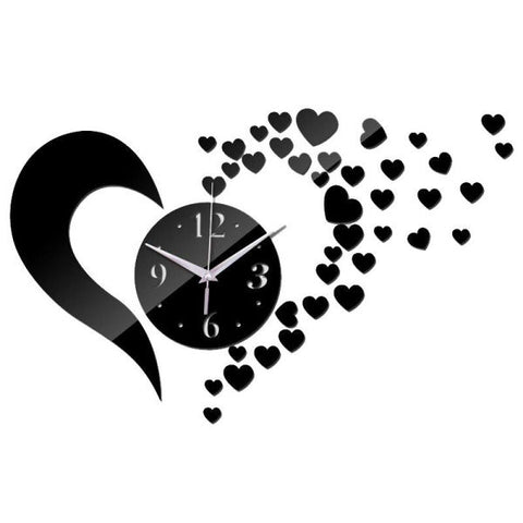 Horloge Murale Sticker DIY - Love | Quai Des Horloges
