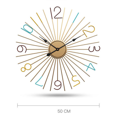 Silent metal wall clock