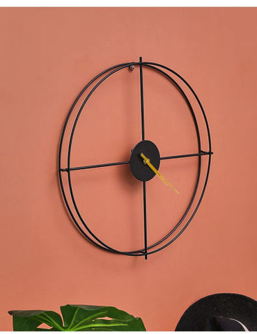 Simple clock in the wall living room