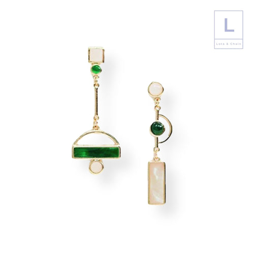 The Geodesia Earrings - Lota & Chain