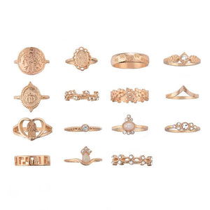 The Fatima 15pc Ring Set - Lota & Chain