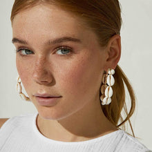 Load image into Gallery viewer, The Shell Hoop Earrings - Lota & Chain