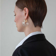 Load image into Gallery viewer, The Deco Earrings - Lota & Chain