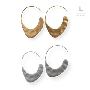 The Saville Hammered Earrings - Lota & Chain