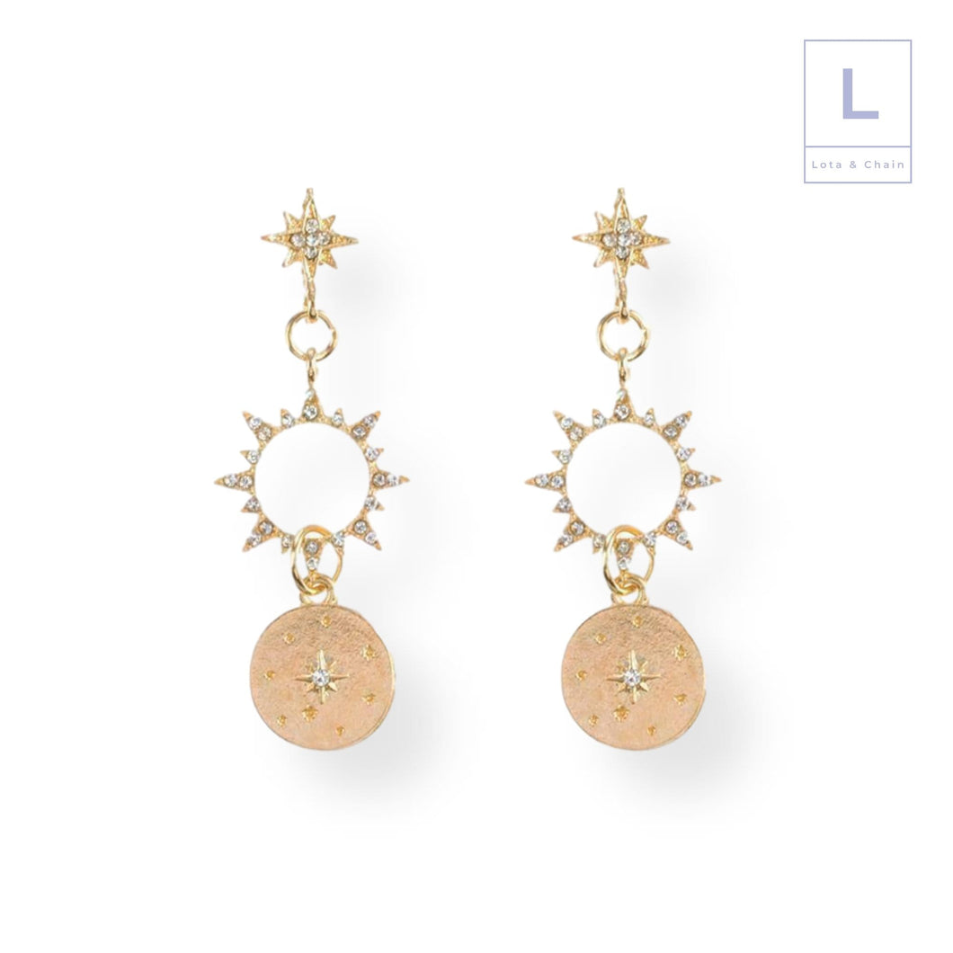 The Sun & Star Earrings - Lota & Chain