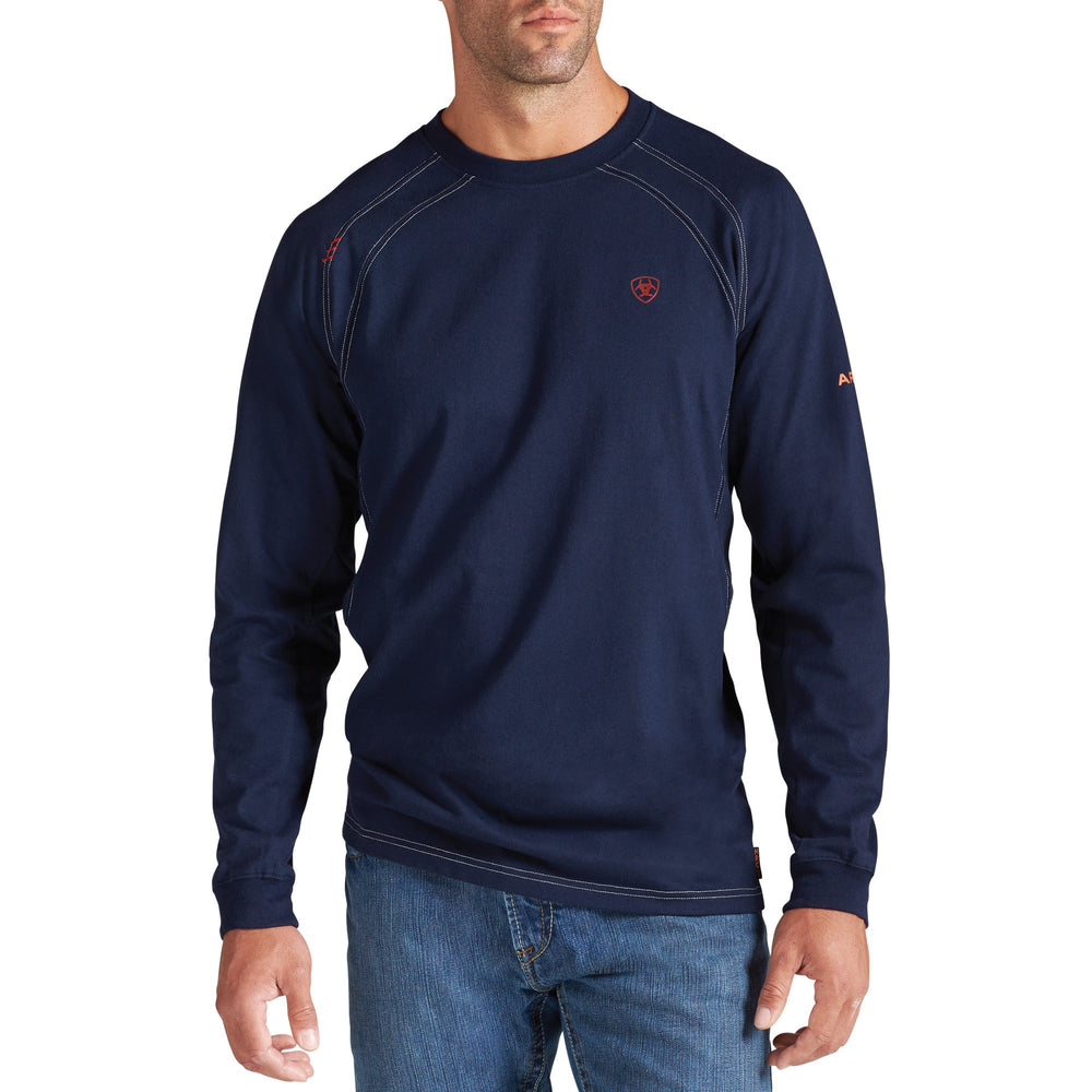 Ariat Men's Flame Resistant Navy Crew Neck T-Shirt 10012256