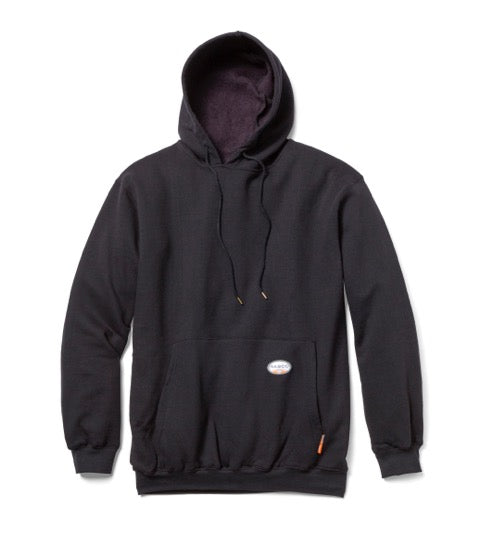 Rasco FR Black Pullover Flame Resistant Hooded Sweatshirt