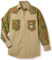 Rasco FR Men's Khaki-Cajun Camo Two Tone Work Shirt FR1104CC/KH