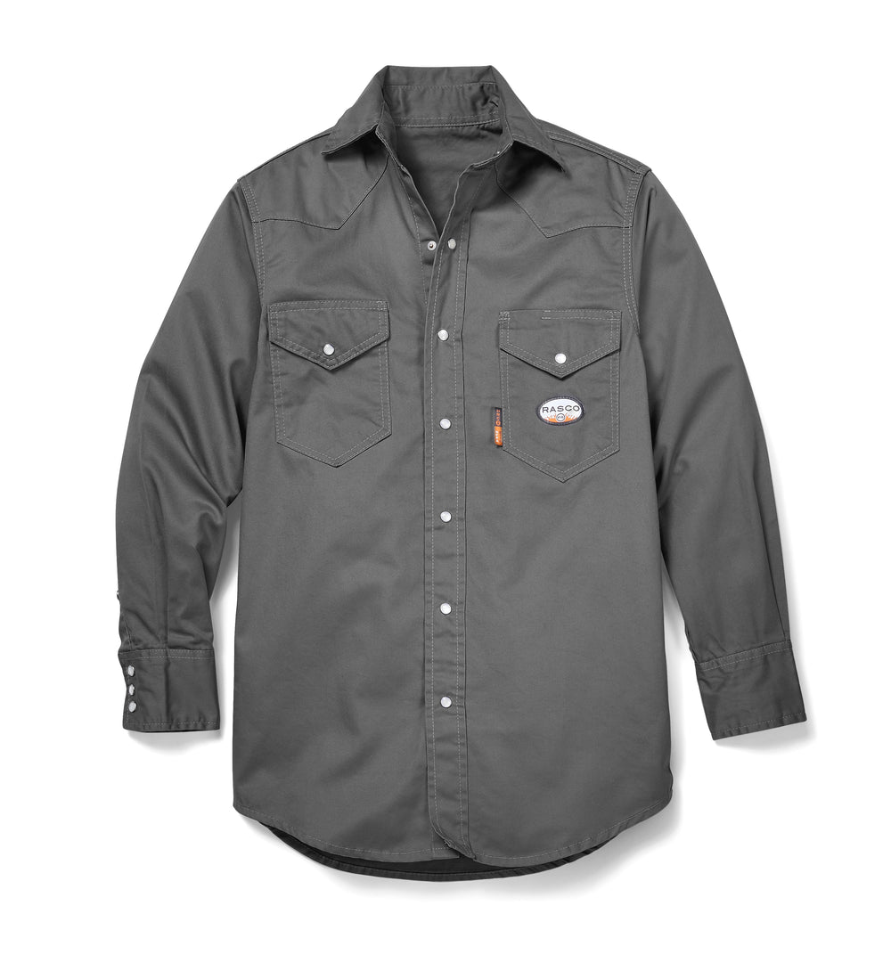 Rasco FR Men's Lightweight Gray Work Shirt FR1003GY