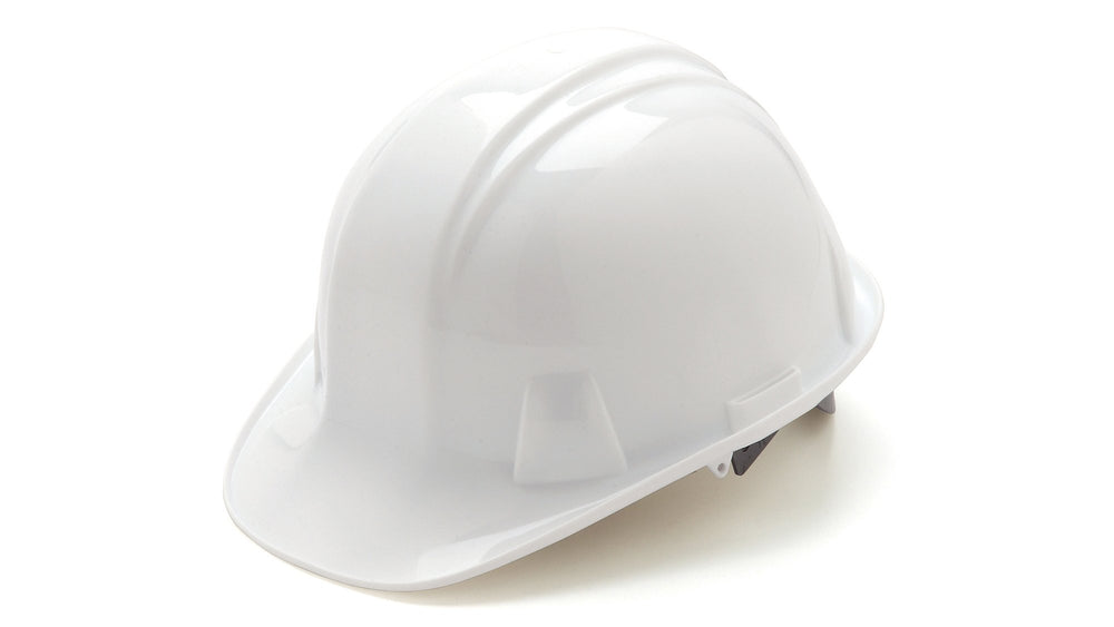 White SL Standard Hard Hat 4 Point Ratchet Suspension